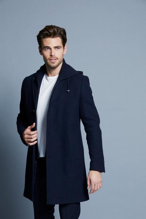 Manteau en laine by Spontini pour homme. - Manches longues,