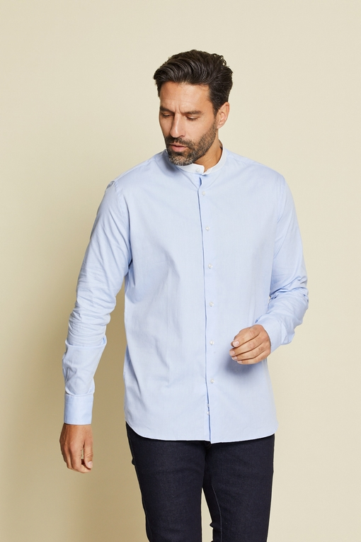 Chemise slim-fit en coton by Spontini pour homme. - Manches