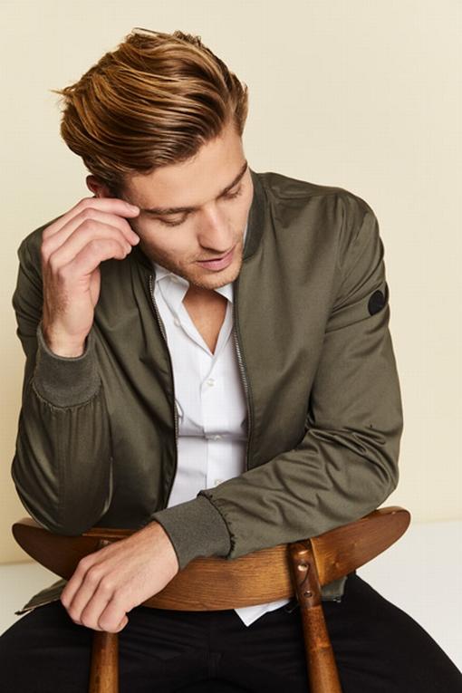 Blouson zippé en coton by Spontini, pour homme - Entièrement
