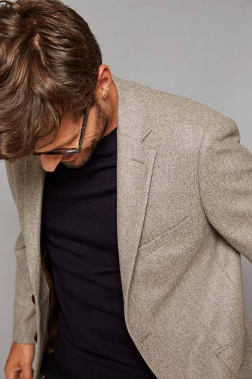 Veste en laine by Spontini pour homme. - 2 poches ticket -