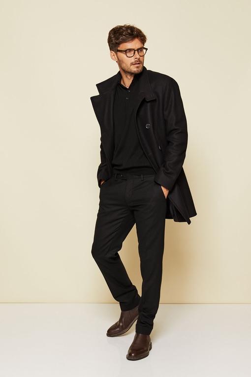 Manteau en laine by Spontini pour homme. - Beau trois quart,