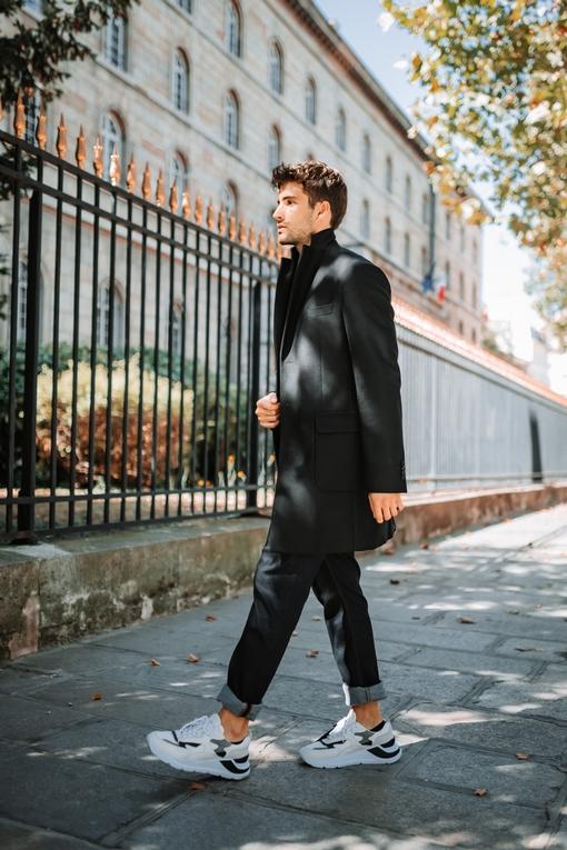 Manteau homme, by spontini - Mi-long, avec une coupe