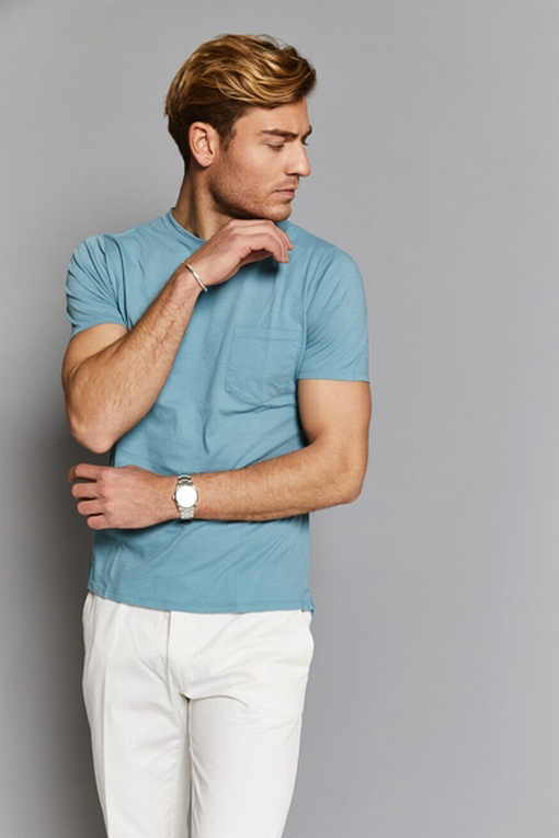 T-shirt by spontini pour hommes - 100% coton - col rond -