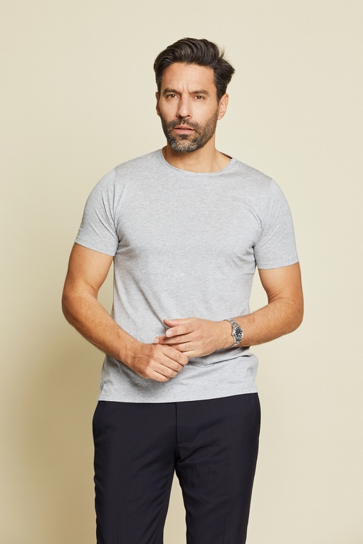 Tee-shirt by Spontini pour homme. - Col rond - Manches