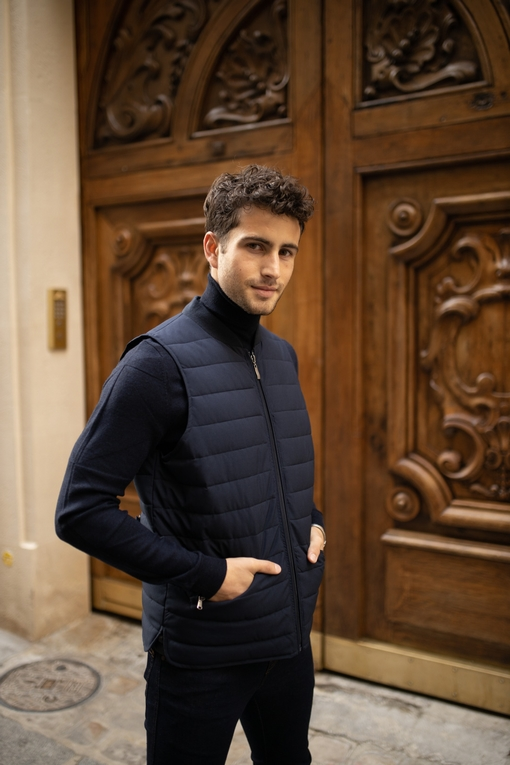 Gilet by spontini - matelassé - 2 poches zippés - se porte