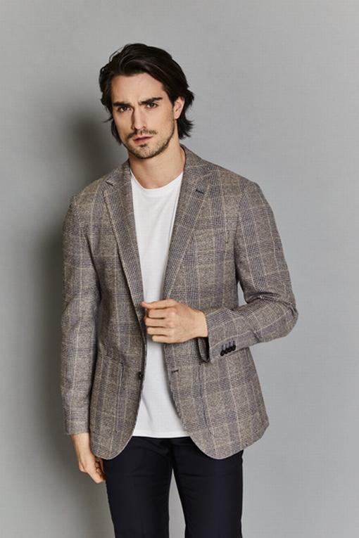 Veste en viscose et laine by spontini - coupe droite - 2