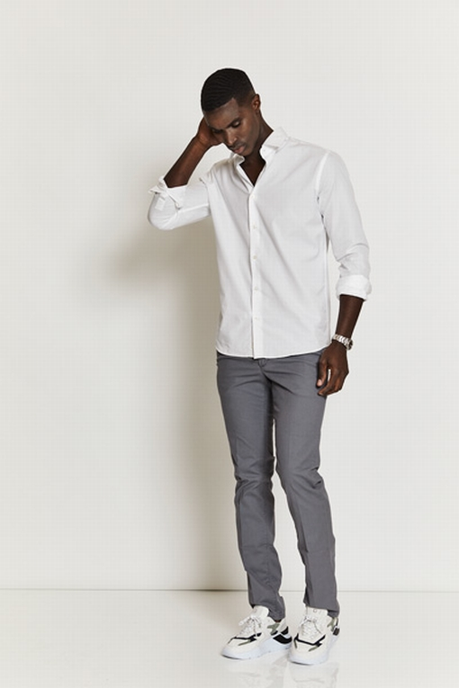 Pantalon slim en coton stretch by Spontini pour homme. - En