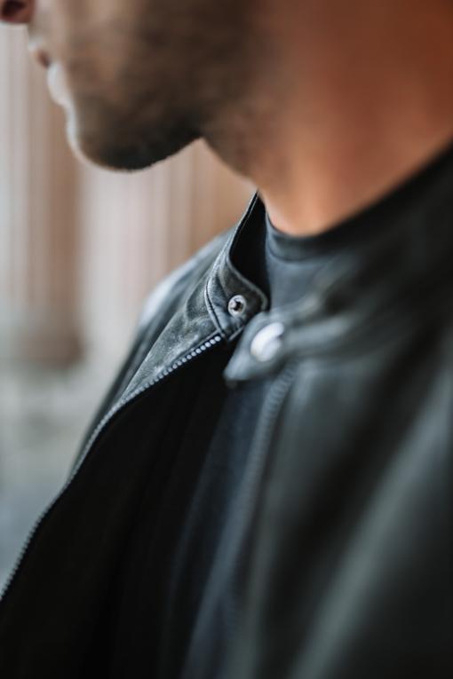 Cuir  - 100% cuir - Doublure 97% coton - 3% elasthane - zip