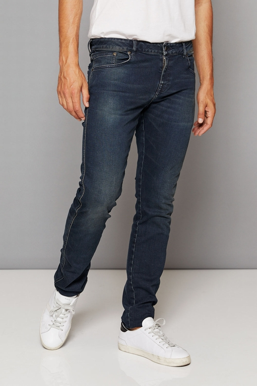 Jeans By Spontini - cinq poches - taille basse - fermeture