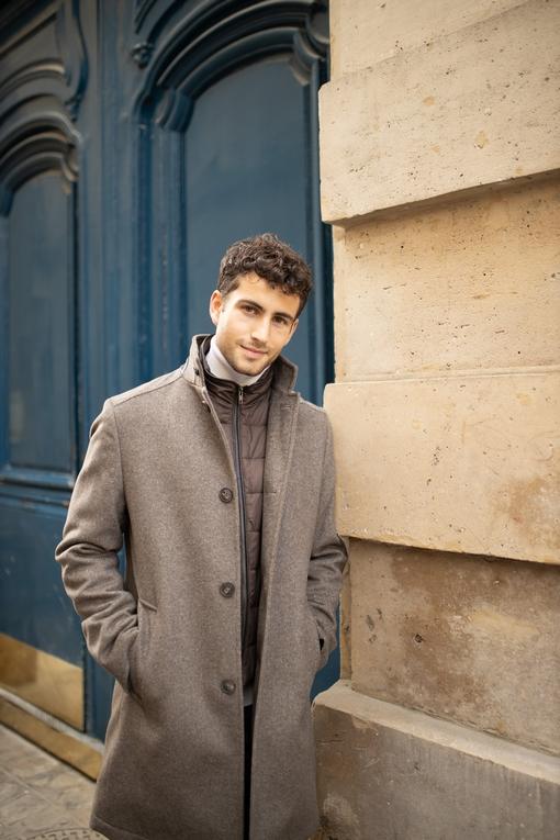Manteau en laine et cashemere by Spontini pour homme. -