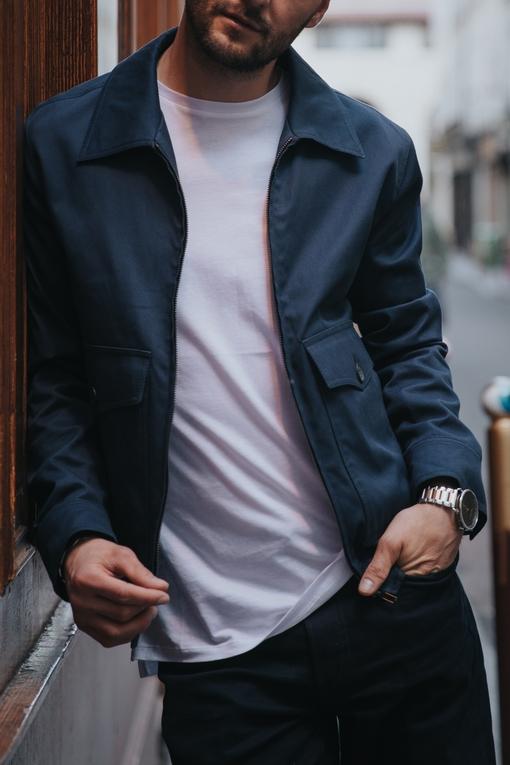 Blouson by Spontini pour homme. - col chemise - Coupe