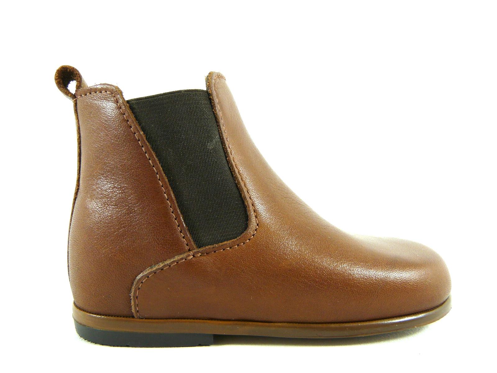 Aron Mary Chaussure Little Garcon Bottine Zip Cognac UzqMVSp