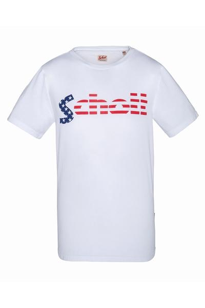 SCHOTT USA-TS LOGO FLAG-1